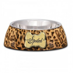 Milano Bowl Leopard for Dogs & Cats, Small 14 cm