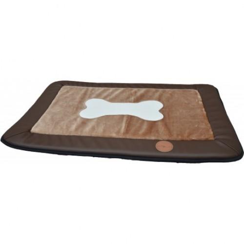 Jack and Vanilla mat / kleed, 55x82cm in bruin of grijs.