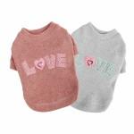 Love truitje van pinkaholic grijs en roze
