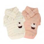 Pinkaholic, truitje met leuke applicatie en sjaaltje, roze of wit