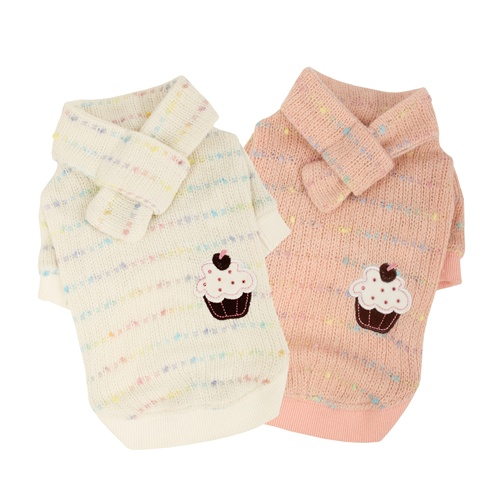 Roze en witte cupcake truitjes met sjaal