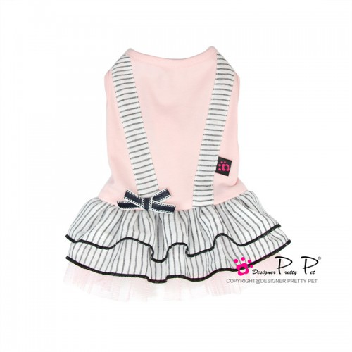 Pretty Pet Stipe Dress (Pink)