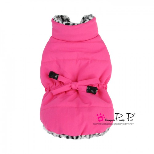 Pretty Pet Drawstring Waist Jacket Hot Pink
