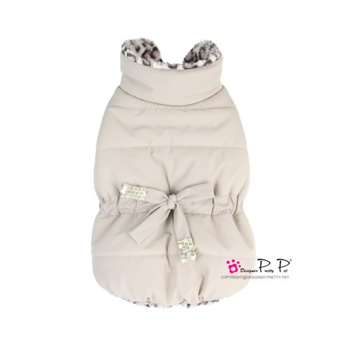 Pretty Pet Drawstring Waist Jacket Beige