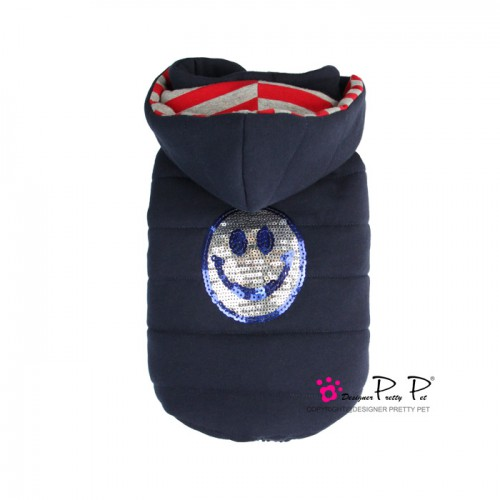 Pretty Pet Happy Hooded Coat Navy