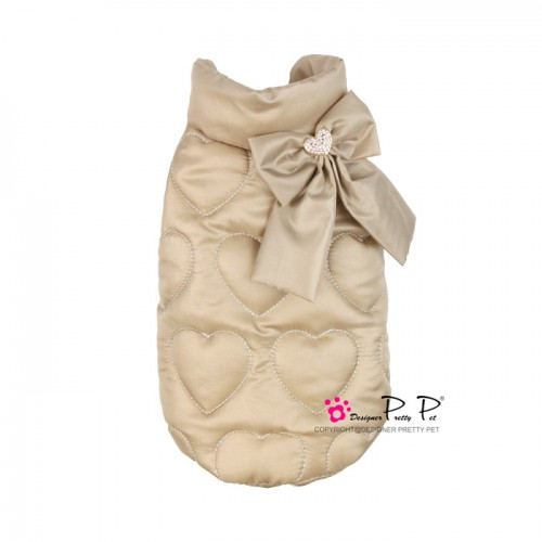 Pretty Pet Heart Embossed Coat (Beige