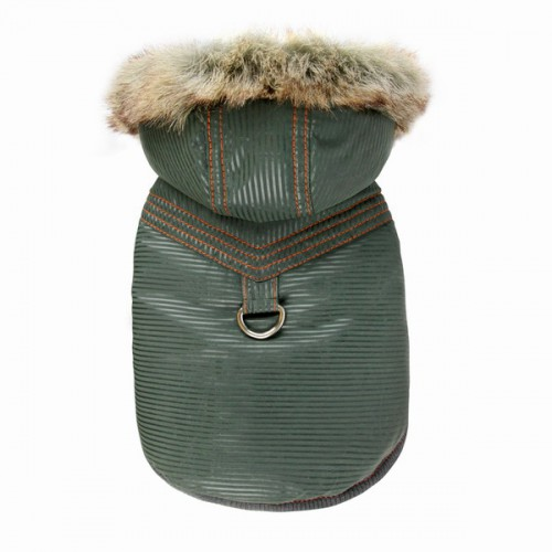 Pretty Pet Vertica Hooded Coat (Green)