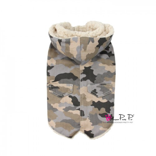 Pretty Pet Fleece Coat (Army Print)