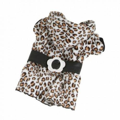 Fleece jas met tijgerprint