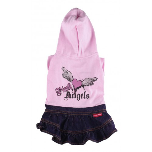Pink angels dress in grijs en roze