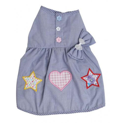 Mouwloos lichtblauw jurkje
