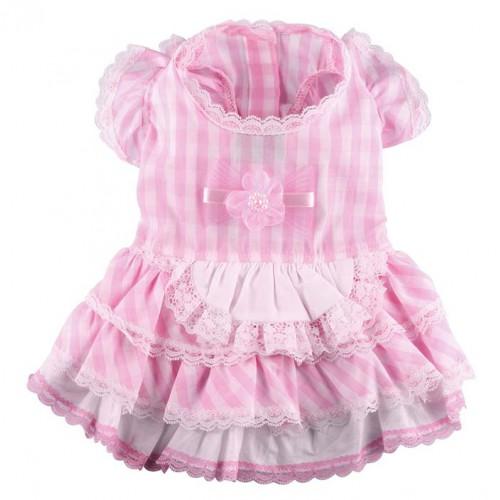 Roze geruit jurkje