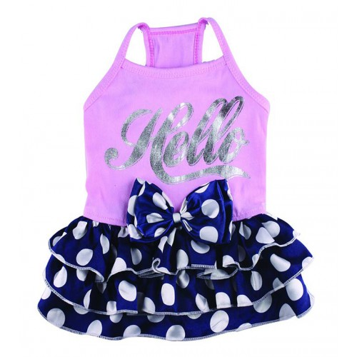 Hello dot dress in twee kleuren