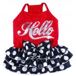 Hello dot dress in twee kleuren