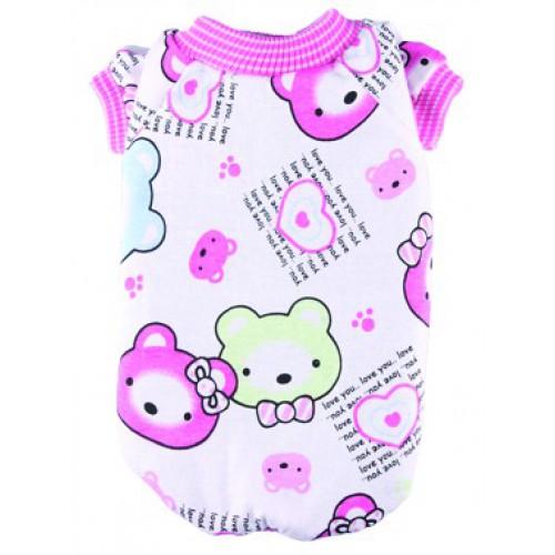 Roze beertjes pyjama