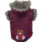 Winterjas met bontkraag (alleen nog leverbaar in rood)