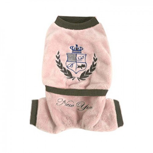 Fleece jumper in rose en bruin