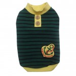 Stoere hoodie met anker in rood en groen