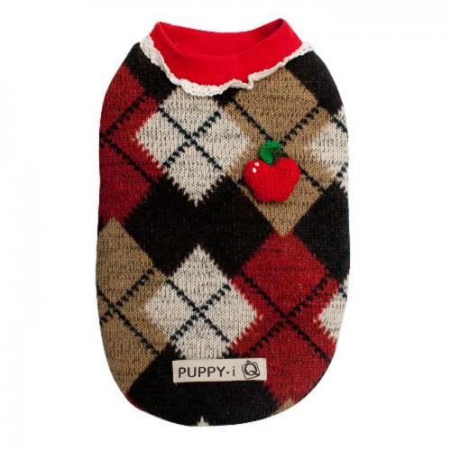 Sweater rood/bruin