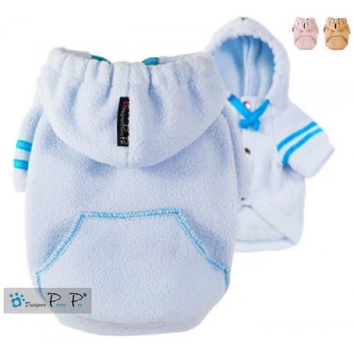 Baby blauwe fleece hoodie