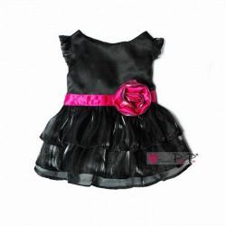 Chique jurkje met roze strik