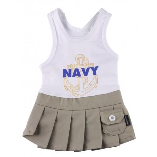 navy wit jurkje