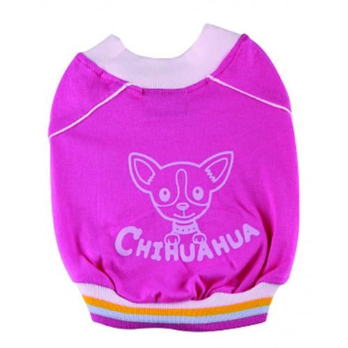 roze truitje met chihuahua print