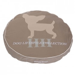 Rond kussen chihuahua small taupe 70x10 cm