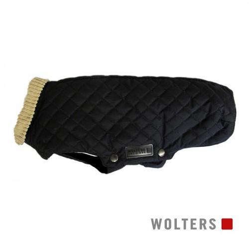 Wolters zwart jasje met beige boord